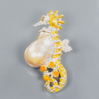 Baroque Pearl Brooch Silver 925 Sterling One of a kind Design /NB09011