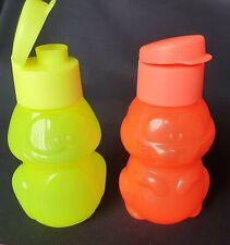 TUPPERWARE - Kids Eco Bottle Animal Sets x 2 Fluro Bunny and Frog!