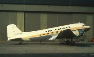 35mm Aircraft Slide Air Anglia G-AOBN Douglas C-47 Skytrain Castle Donington
