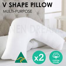2x Aus Made Tri Boomerang V Shape Maternity Nursing Pregnancy Pillow Cotton