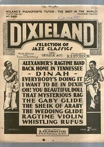DIXIELAND SELECTION OF JAZZ CLASSICS PIANO SONGBOOK 1932 12 songs words & music