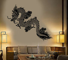 Vinyl Wall Decal Chinese Flying Dragon Fantasy Asian Style Stickers (1358ig)
