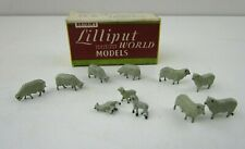 More details for vintage britains lilliput lp501 oo/ho metal sheep figures new old stock