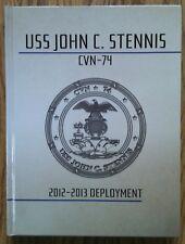 BRAND NEW 2012-2013 USS JOHN C. STENNIS CVN-74 U.S NAVY ORIGINAL CRUISE BOOK.