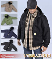 "1/6 Male Casual Hooded Jacket Coat Workwear Clothes Model for 12"" Action Figure"