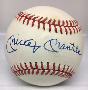 31514 Mickey Mantle Signed Baseball AUTO Autograph JSA LOA NY Yankees HOF