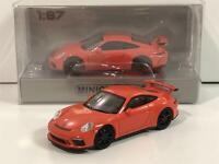 orange Minichamps 1:87 H0 870 067320 Porsche 911 GT3 Nr #2017 OVP NEW