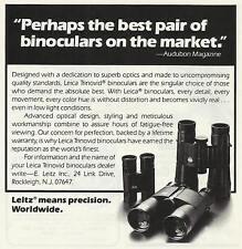 LEITZ BINOCULARS Original 1983 Vintage Black & White Print Ad