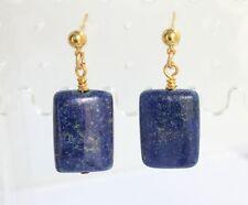 Blue Lapis Post/Drop Earrings 18x12mm Handmade