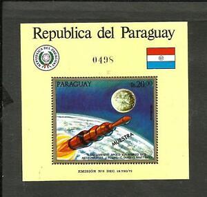 PARAGUAY SPACE KOSMOS MICHEL BLOCK 181 SPECIMEN, MNH