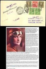 GLADYS O'DONNELL (AVIATION PIONEER) SIGNED AIRMAIL COVER AUG 19,1929 BS8862