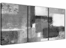 PANNELLO 3 Nero Bianco Grigio Sala Da Pranzo Tela Art Decor-Astratto 3368 - 126 cm