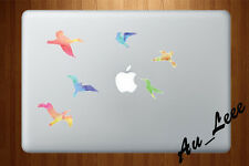 Macbook Air Pro Skin Sticker Decal -colorful birds abstract #CMAC048