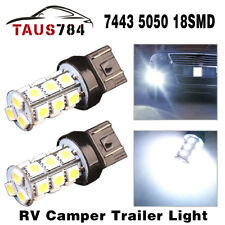2x Super White High Power 7443 5050 18-SMD Car Tail Brake Stop LED Light Bulbs