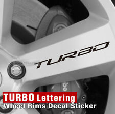 Car TURBO Lettering Wheel Rims Decal Sticker 4Pcs for All Vehicle