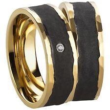 Trauringe Verlobungsringe Eheringe aus Edelstahl mit Zirkonia Ringe Gravur 3207