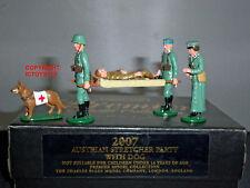 CHARLES BIGGS PREMIER 2007 AUSTRIAN STRETCHER PARTY + DOG METAL TOY SOLDIER SET
