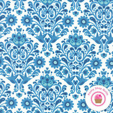 Moda ON THE WING Abi Hall 35263 11 Blue QUILT FABRIC