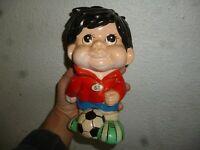 Ancienne Vintage Tirelire Céramique Footballeur SB Sport Billy Football Player