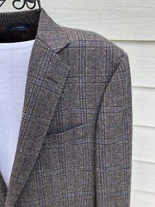 Brooks Brothers Regent 42S Brown Plaid Blazer Lanificio di Pray, No Cuff Buttons