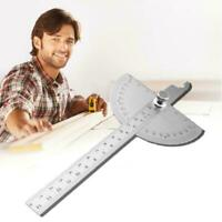 Stainless Steel Angle Gauge Protractor Angle Measuring Tool Ruler 180 Degre L8L9