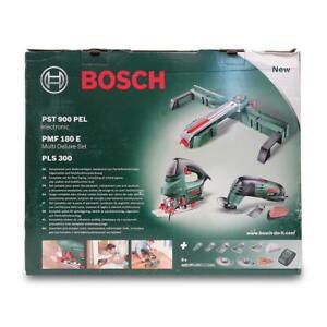 Wie Neu - Bosch PST 900 PEL + PMF 180 E + PLS 300 - Set