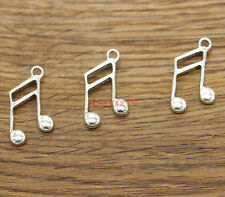 20pcs Music Note Charms Band Singing Charms Antique Silver Tone 14x25mm 1342
