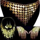 Danza Belly Dance Juego de joyas cadena pendientes PULSERA DE ESCLAVO Cinturón
