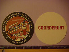 Beer Coaster ~~ NARRAGANSETT Lager, Providence, Rhode Island ~ COORDERURT Puzzle