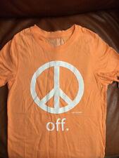 DAVID & GOLIATH Peace Off T-Shirt - Size M - NWOT