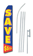 No Credit Bad Credit Ok Swooper Flag Bow Feather 15 Tall Complete Starter Kit