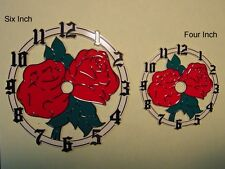 "Plastic / Epoxy - 4"" Inch Red Rose - Clock Dial"