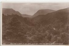 First Glimpse of Lairig Ghru Pass From Forest of Rothiemurchus RP Postcard 094a