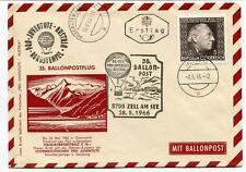 1965 Ballonpost n. 35 Pro Juventute Aerostato OE-DZB Zell Am See Pragraten Tirol