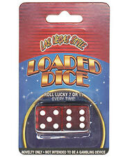 NOVELTY CHEATING WINNER DICE - ROLL 7 or 11 WIN EVERY TIME MAGIC FREE SHIPPING*