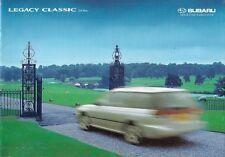 Subaru Legacy Classic Estate 1998-99 UK Market Sales Brochure 2.0 LX GL