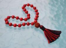 Red Coral Pocket Mala Beads 27+1, Coral Quarter Mala Beads, Moonga Japa Mala