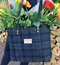 Harris tweed bag purse scottish gift gift for her womens gift tartan black