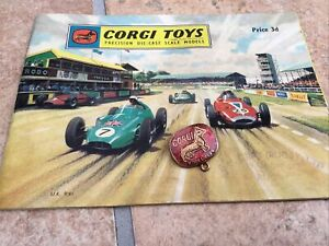 Corgi Club Badge And Corgi Toy Catalogue.