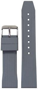 22mm Bonetto Cinturini Watch Band Model 324 Grey with Carbon Etch 22/20 125/75