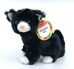 Melissa and Doug NEW Black Plush Midnight Cat 8in Model 7528 Tags