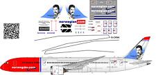 Boeing 787 Norvegian Air Shuttle decal 1144 for Zvezda