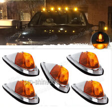 Universal Teardrop Style 3k Amber Yellow Cab Roof Marker Covers Kit For Truck c