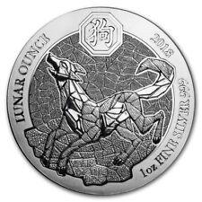 Rwanda Lunar Ounce Dog 2018 1 oz .999 Silver Coin (Sealed)