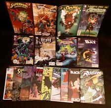 Mixed lot 17 DC Batman Robin Superman Blackhawk graphic novel & comic book lot