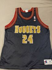 Vintage 90s Champion Denver Nuggets Antonio McDyess #24 NBA Jersey XL 48