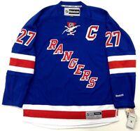 "RYAN McDONAGH NEW YORK RANGERS REEBOK PREMIER NHL HOME JERSEY W/ CAPTAINS ""C"""