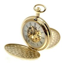 Pocket Watches For Men Gifts For Men Gold Plated Double Hunter Pocket Watches