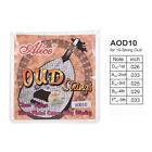 Alice AOD10 10-String Oud Strings Set D-A-E-B-F Nylon Core Silver Plated N0S3