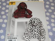 "SIMPLICITY 8783 IT'S SO EASY TWO PIECE 14"" STUFFED PUPPY TOY  PATTERN-UNCUT"
